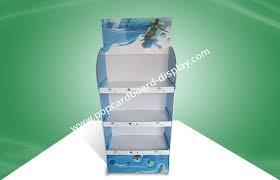 Heavy Duty POS Cardboard Displays With Three Shelf 350gsm CCNB And Foam Board