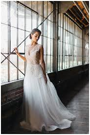 Blush Wedding Dress With Delicate Floral Appliques By Chaviano Couture Hair And Makeup Claudia