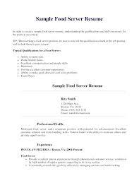 Server Resume Skills Examples Restaurant Objective Adorable Sample For Also