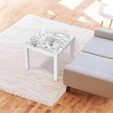 möbelfolie ikea lack tisch 55x55 cm design marmor weiß