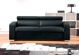 canape convertible simili lit 160 200 simili cuir noir avec eclairage led luminosa