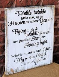 Twinkle Little Star Up In Heaven Is Where You Are Engraved Wood