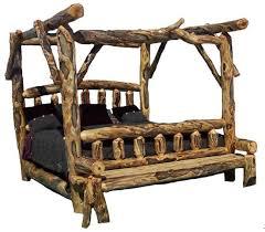 Rustic Bedroom Furniture Log Bed Mission Beds Burl Wood Furnishings Cabin