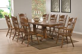 5 Piece Oval Dining Room Sets by Coaster Brooks Oak Finish Round Oval Dining Table With Single