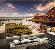 mkkwp benutzerdefinierte 3d wandbilder coast sky stones