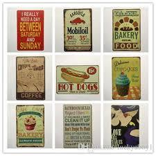 großhandel mobiloil cupcake bäckerei kaffee badezimmer regeln retro rustikale zinn metall schild wand dekor vintage zinn poster cafe shop bar