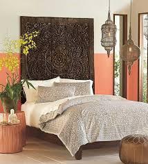 Rare Queen Bed Headboard 60 5ft Sculpture Lotus Flower