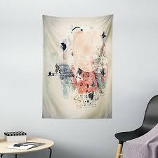 abstrakt wandbehang grunge mix collage einfache wohnzimmer