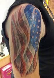 Cross With American Flag Tattoo 19 Sle