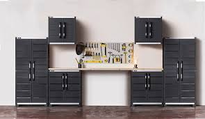 Sterilite 4 Shelf Cabinet by Keter Ready To Assemble Xl Pro Garage System Utility Tool Storage