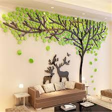 elch baum 3d stereo acryl wand aufkleber wohnzimmer sofa tv hintergrund aufkleber kreative diy wand dekoration weihnachten geschenk