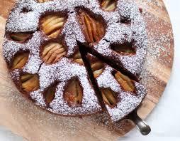 schoko chai kuchen mit birnen rezept