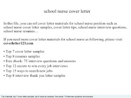 Diabetes Educator Cover Letter Nurse Sample Application For School Template