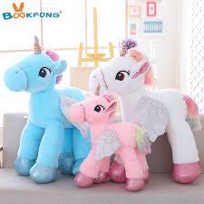 6090cm Stuffed Animal Baby Dolls Kawaii Cartoon Unicorn Plush Toys