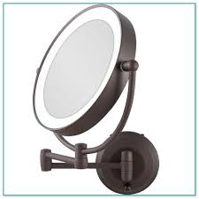 operated wall mounted lighted makeup mirror