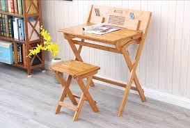 ordinateur de bureau compact moderne bambou ordinateur de bureau table pliante bambou meubles