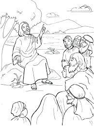Jesus Preaching Coloring Page