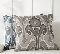 Pottery Barn Decorative Pillow Inserts by Kenmare Ikat Embroidered Pillow Cover Pottery Barn