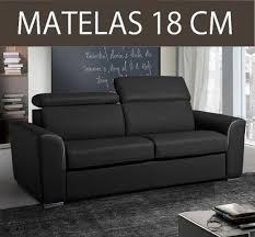 épaisseur cuir canapé canape convertible systeme rapido imola matelas 18cm