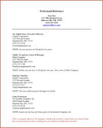 Resume Reference List Template Job
