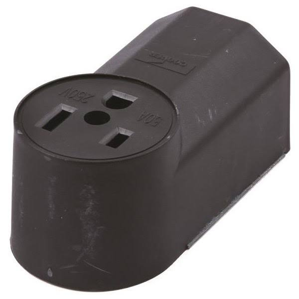 Forney 58402 Electrical Receptacle Pin-Type Wall Receptacle - 50 Amp, 230V