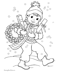 Free Christmas Wreath Coloring Pages