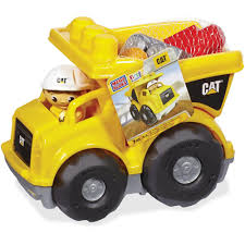100 Caterpillar Dump Truck Toy Mega Bloks Mega Bloks First Builders CAT Rolling
