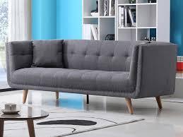 canapé tissu canapé design 3 places en tissu karl coloris gris