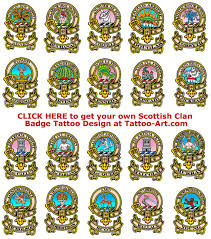 Scottish Clan Badge Tattoos