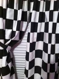 2 window curtain panels made from cotton nascar race or r