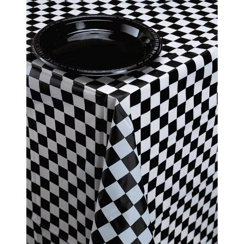 Creative Black & White Check Tablecover