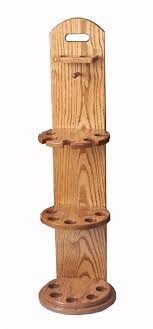 Oak Wood Pool Cue Rack from DutchCrafters Amish Furniture