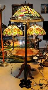 Tiffany Style Glass Torchiere Floor Lamp by Tiffany Style Lamps Figural Lamps Floor Lamps Table Lamps