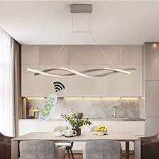 led pendelleuchte esstischle hängele dimmbar esszimmer decke le modern design fernbedienung hängeleuchte höhenverstellbar wohnzimmerle
