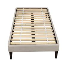 65% OFF Queen Wood and Metal Sleigh Bed Beds