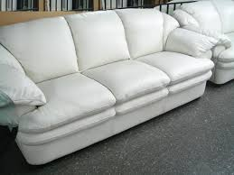 off white leather sofa 694 95 samuel contemporary leather sofa in