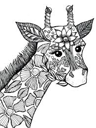 Giraffe Adult Coloring Book Page Sophie The Loose In Colorado Remix Colors
