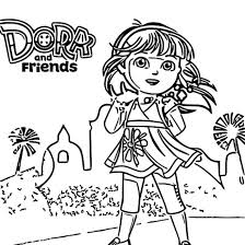 Dora And Friends Into The City Daf Itc Nick Jr Uk Preschool Junior Free Coloring Page