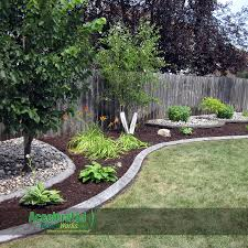 Use Extra Edging (in This Case Gray Concrete Curb With A Slant ... Backyards Chic Backyard Mulch Patio Rehabitual Homes Bliss 114 Fniture Capvating Landscaping Ideas For Front Yard And Aint No Party Like A Free Mind Your Dirt Pictures Simple Design Decors Switching From To Ground Cover All About The House Time Lapse Bring Out Mulch In Backyard Youtube Landscape Using Country Home Wood Chips Angies List Triyaecom Dogs Various Design Inspiration For New Jbeedesigns Outdoor Best Weed Barrier Borders And Under Playset Playground
