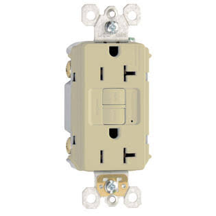 Pass & Seymour 2097iccd12 GFCI Outlet, Heavy Duty, 20A, Ivory,