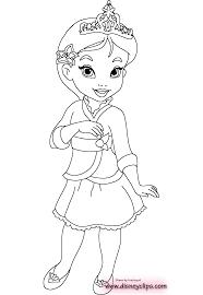Baby Princess Coloring Pages Paginone Biz