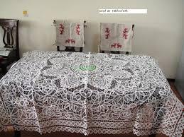 Battenburg Lace Curtains Ecru by Vintage White Battenburg Lace Tablecloth 72