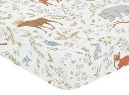 Woodland Crib Bedding Sets by Amazon Com Fitted Crib Sheet For Woodland Toile Baby Toddler