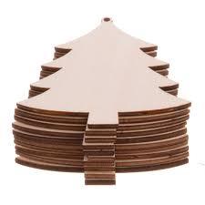 Amazoncom YEEQIN 10PCS Unfinished Christmas Tree Wood Christmas