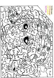 Coloring Pages With Numbers Hard Color By Number