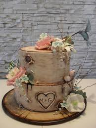 Rustic Birch Wedding Cake By Timea