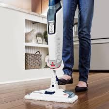 Shark Steam Floor Scrubber by Bissell Powerfresh Deluxe Steam Mop Brite White Sapphire Blue