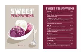 Sweet Temptations Dessert Menu 2012