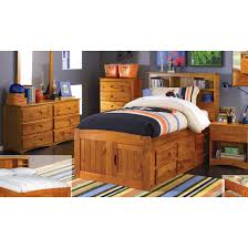 Twin Captains Bed With 6 Drawers by Discovery World Furniture Honey Twin Size Captains Bed