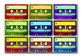 Retro Tape Cassettes Canvas Print Poster